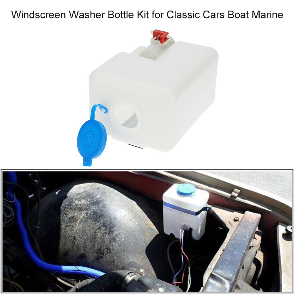 KKmoon Universal 12V Kit de Parabrisas Arandela Botella Limpiaparabrisas para Coches Clasicos Barco Marina: Amazon.es: Electrónica