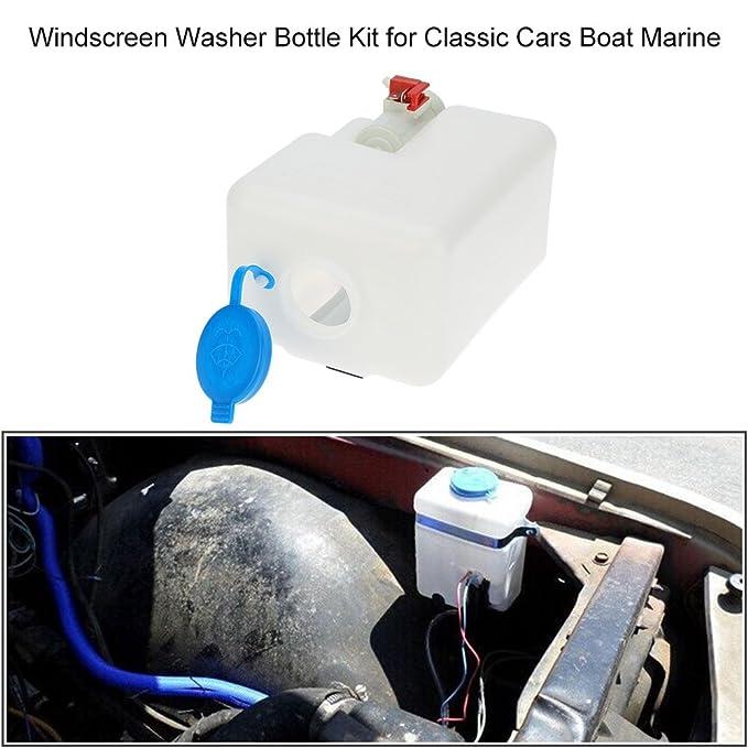 KKmoon Botella Limpiaparabrisas Kit Herramientas de Limpieza 12V Universal para Coches Clasicos Barco Marina: Amazon.es: Coche y moto