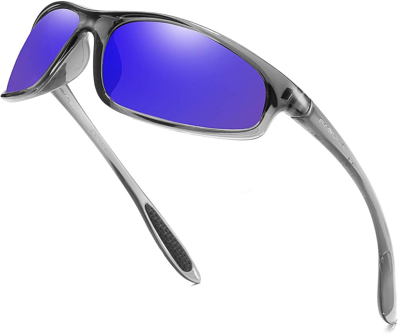 FAGUMA Polarized Sports Sunglasses for Men Women Cycling Driving Fishing 100/% UV Protection