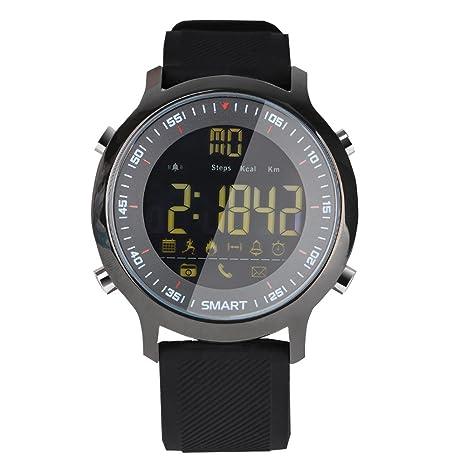 RimeU Digital Reloj Deportivo Electrónicos Resistente Al Agua Cronómetro Podómetro Contador de Calorías Cálculo de Distancia