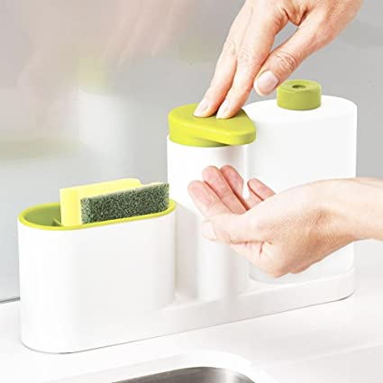 Amazon.com: Pawaca Kitchen Sink Organizer, Sink Tray Soap Holder Set ...