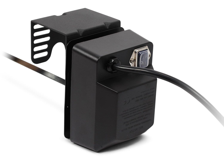 Kenley Kit de rosticería motorizado para barbacoas, Universal, para Asar Carne con espeto, hcp-bq28 m, Color Plateado