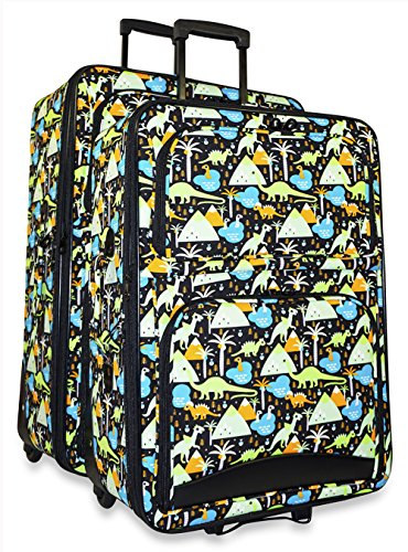 Ever Moda Dinosaur 2-Piece Carry On Luggage Set by Ever Moda