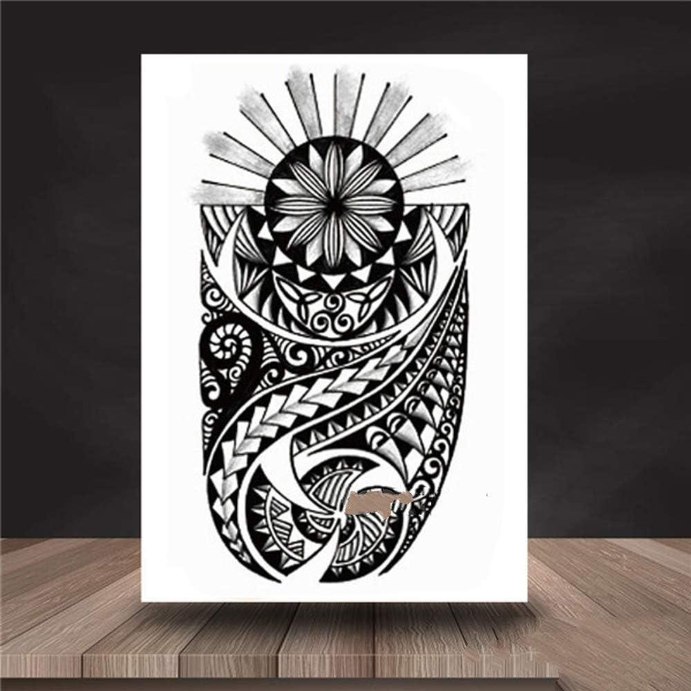 Xxpf Yin Yang Lion Dr Totem Temporary Tattoo Sticker Maori Warrior Body Art Arm Hull Amazon Co Uk Sports Outdoors