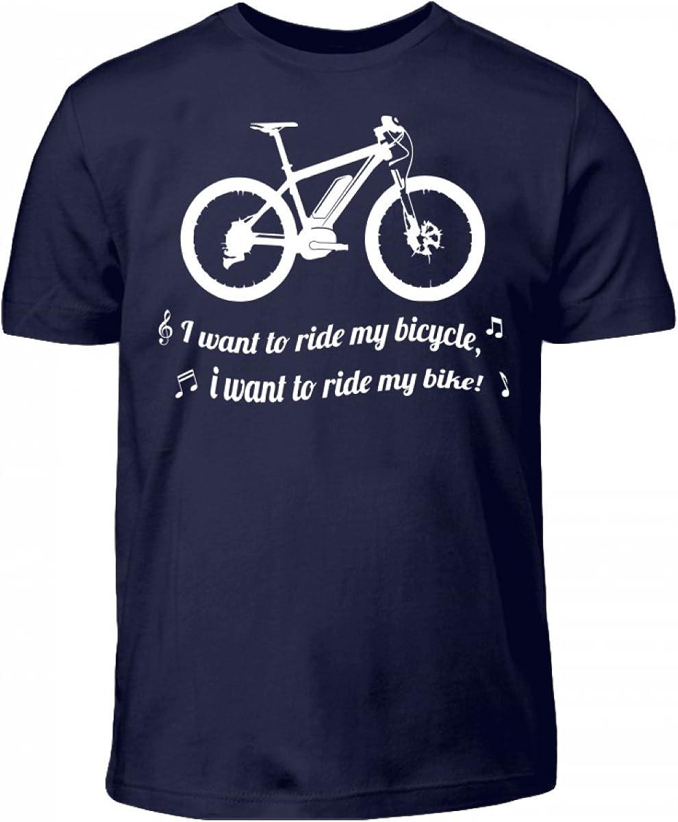 Nukular Hochwertiges Kinder T-Shirt - I Want to Ride My