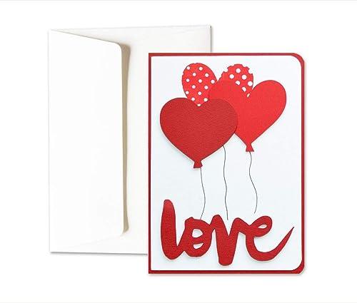 Love you - globos - corazones - día de San Valentín - tarjeta de ...