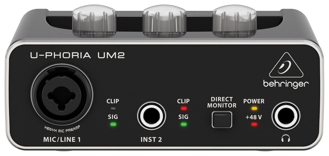 BEHRINGER U-PHORIA UM2 48kHz 2-channel USB Audio Interface with XENYX Mic Preamplifier