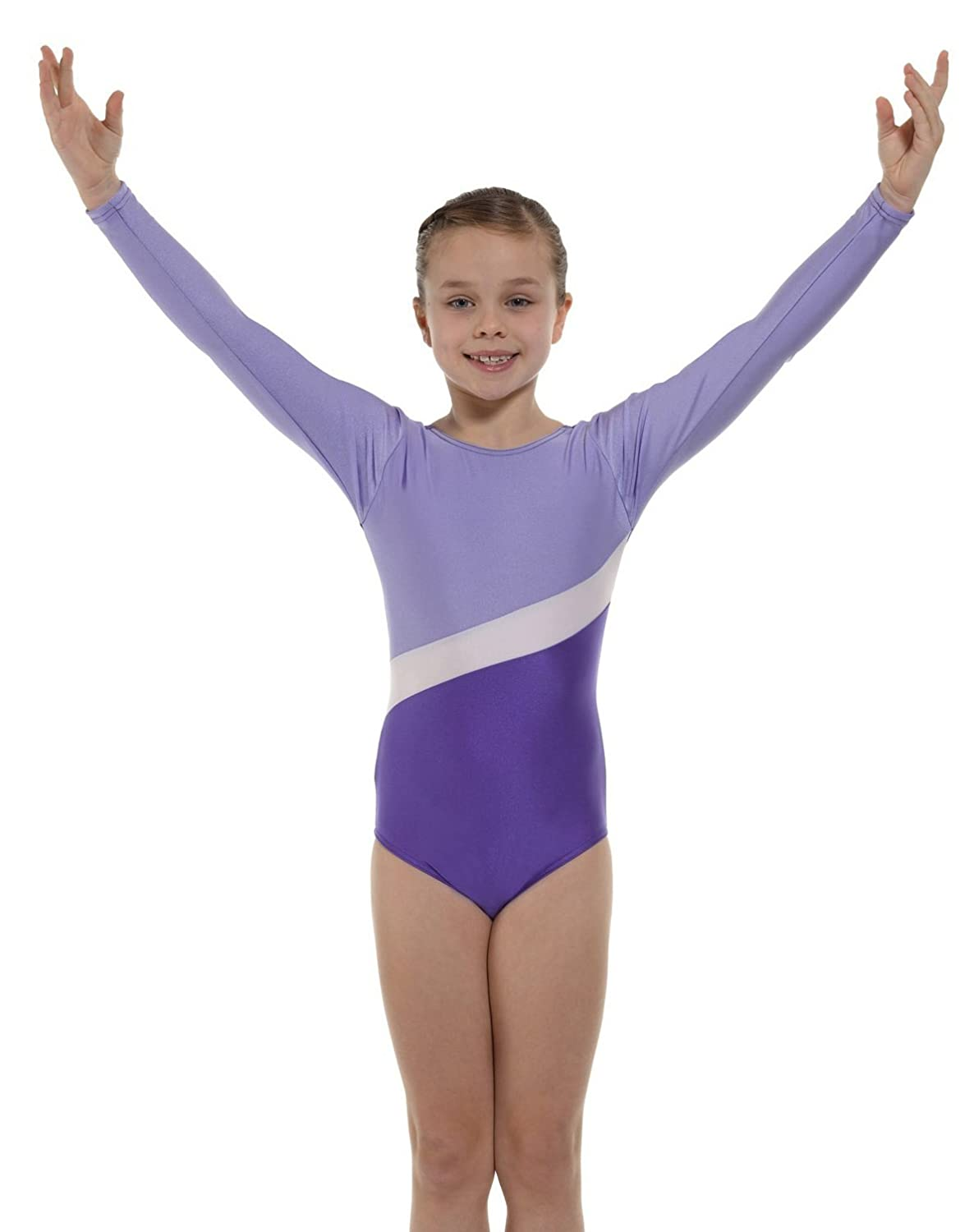 Tappers & Pointers Two Tone Gymnastics Leotard with contrast stripe - GYM2