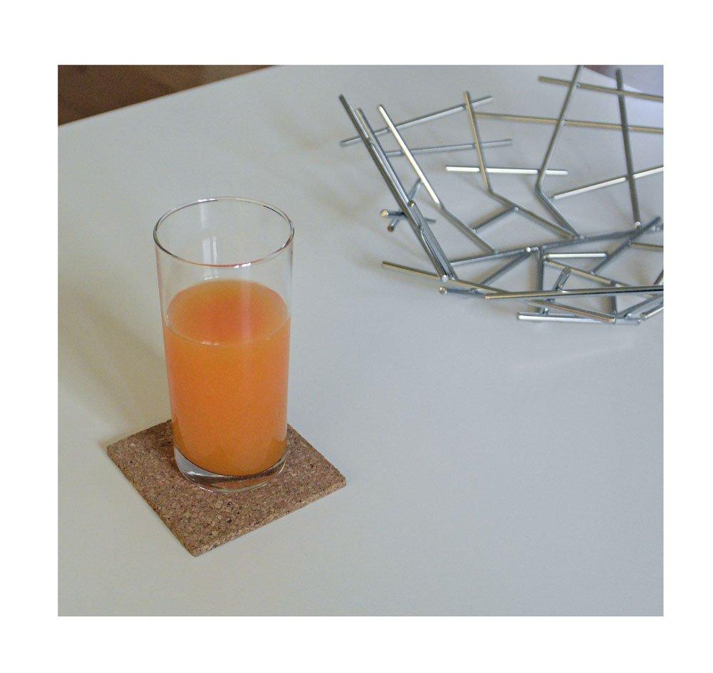 Compra Juego de posavasos de corcho para vasos, tazas como protección para mesa y mantel, de all-around24®, corcho, 16 Stück Eckig en Amazon.es