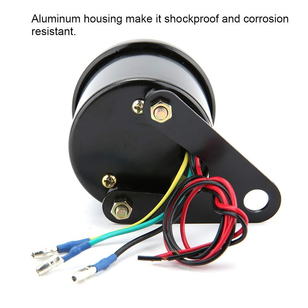 min Indicatore di contagiri elettronico con retroilluminazione a LED per motocicletta DC 12V Contagiri per motocicletta 0-13000rpm
