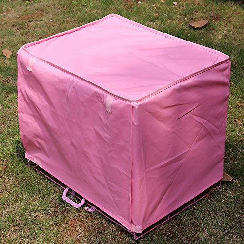 Dog Kennel Cage Covers Windbreak Waterproof Puppy Cat Wire Crate Wear Ventilation Window Open For Pets House (S, Pink) by S-LINE (Image #4)