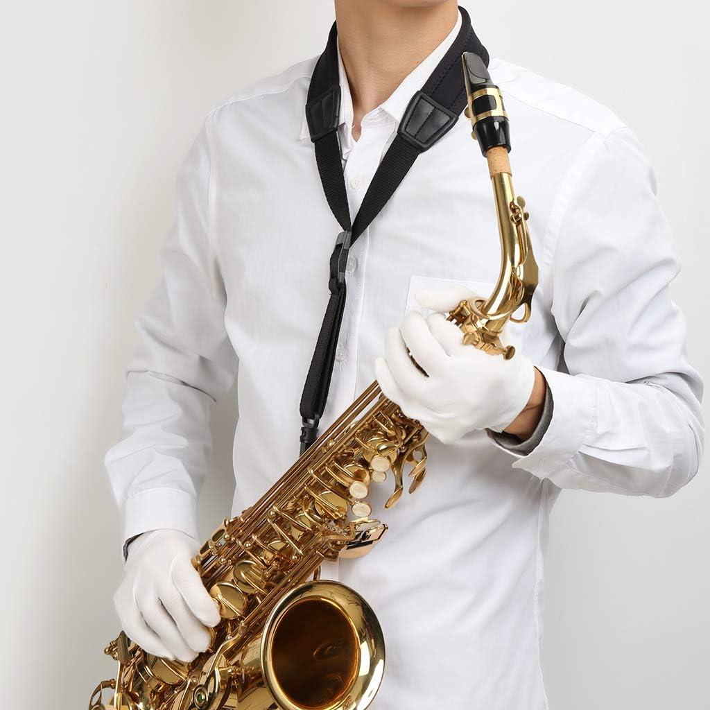 Premium Saxophongurt für Sopran gepolsterte Saxophon Gurt und Altsaxophon