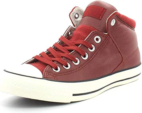 Converse Mens Chuck Taylor All Star Street Hi Tumbled Leather Sneaker