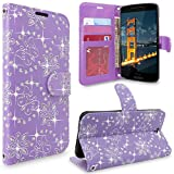 HTC One A9 Case, HTC Aero Case, Cellularvilla [Slim Fit] [Stand Feature] Premium Pu Leather Wallet Case [Card Slots] Book Style Protective Flip Cover For HTC One A9 / HTC Aero (Purple Glitter)