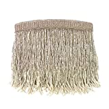 From St Xavier Sienna Beaded Fringe Clutch Evening Bag (Champagne/Silver)