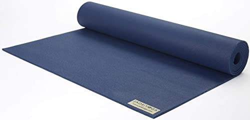 Jade Yoga – Fusion Yoga Mat 5 16 Thick, 24 Wide, 68 Long- Color Midnight Blue