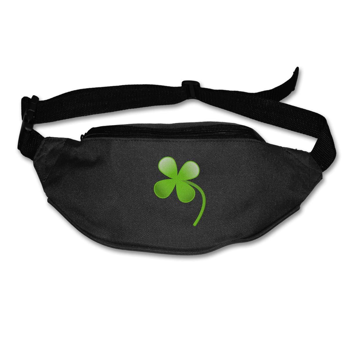 Small Fresh Clover Sport Waist Bag Fanny Pack Adjustable For Travel