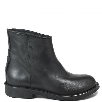 Personal Shoepper Stivaletti Biker Boots Stivali Bassi Donna 0273 Nero Vera Pelle Made in Italy Taglia 40