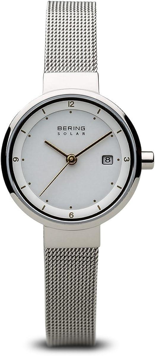 BERING Reloj Analógico para Mujer de Energía Solar con Correa en Acero Inoxidable 14426-001