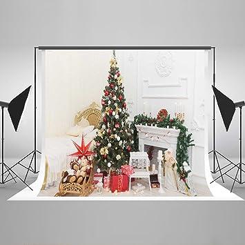kate 5x7ft150x220cm happy christmas theme photography backdrops bedroom decoration christmas tree and white - Amazon White Christmas Decorations