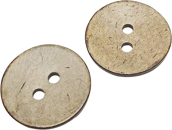 Chenkou Craft 30pcs Brown Natural Coconut Coco Button 2 Holes Craft Clothe Sewing (1 1/2