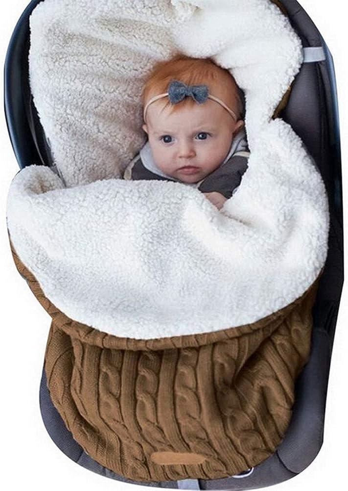WangsCanis Neugeborene Baby Wickeldecke Gestrickter Schlafsack Vlies Erhalten Decken Kinderwagen Wrap f/ür 0-12 Monate Unisex Baby Jungs M/ädchen