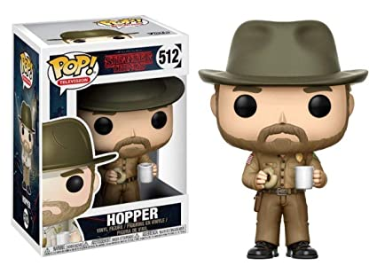 Stranger Things- Figura de Vinilo Hopper with Donut (Funko 14425)