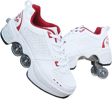 YXRPK Ruedas 2 En 1 Deformación Multifuncional Zapatillas De Patines Zapatos, Fitness, Frenos Delanteros Fuertes, Muy Estables Y Fáciles De Aprender,31: Amazon.es: Deportes y aire libre