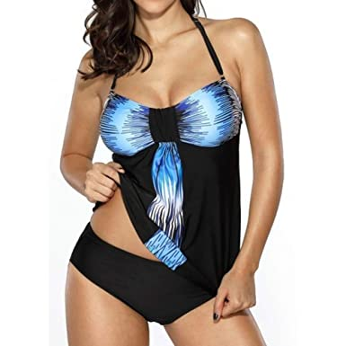 Damen Tankini Push Up mit Slip Oversize Badeanzug Tankini hibote Große  Größen Bikini Set Bademode Lila/Rot/Blau M L XL XXL XXXL XXXXL XXXXXL:  Amazon.de: ...