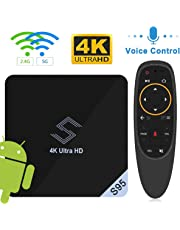 Android TV BOX - VIDEN S95 TV BOX Android 8.1 Smart TV Box Amlogic S905X2 Quad-Core Support 4K 75fps Ultra HD/ H.265 Dual Band WiFi 2.4GHz / 5.8 GHz WIFI Media Player Bluetooth with Voice Remote