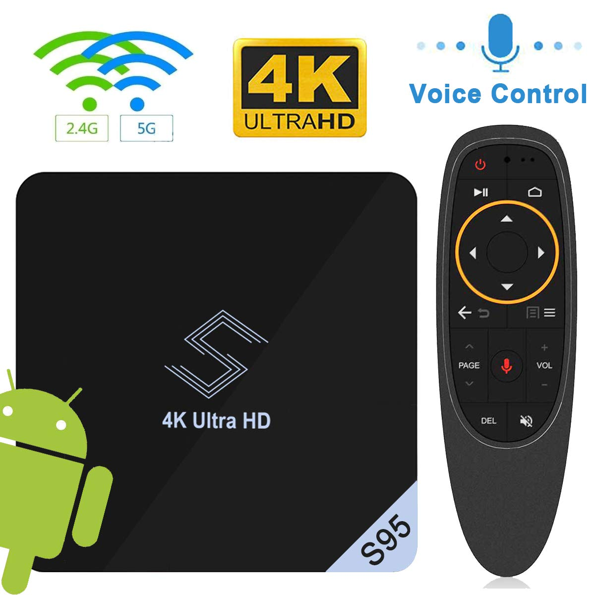 Android TV BOX - VIDEN S95 TV BOX Android 8 1 Smart TV Box Amlogic S905X2  Quad-Core Support 4K 75fps Ultra HD/ H 265 Dual Band WiFi 2 4GHz / 5 8 GHz