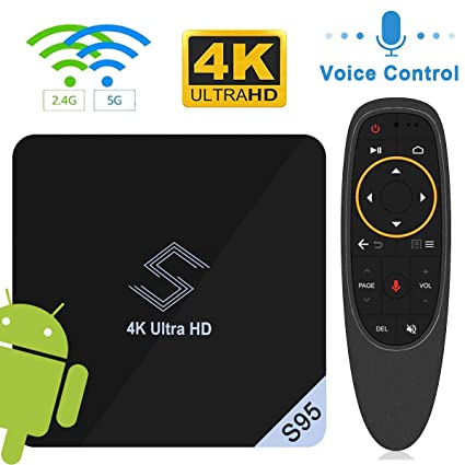 Android TV Box - VIDEN S95 TV Box Android 8 1 Smart TV Box Amlogic S905X2  Quad-Core 2GB RAM & 16GB ROM Support 4K @75fps Ultra HD/H 265 Dual Band  WiFi