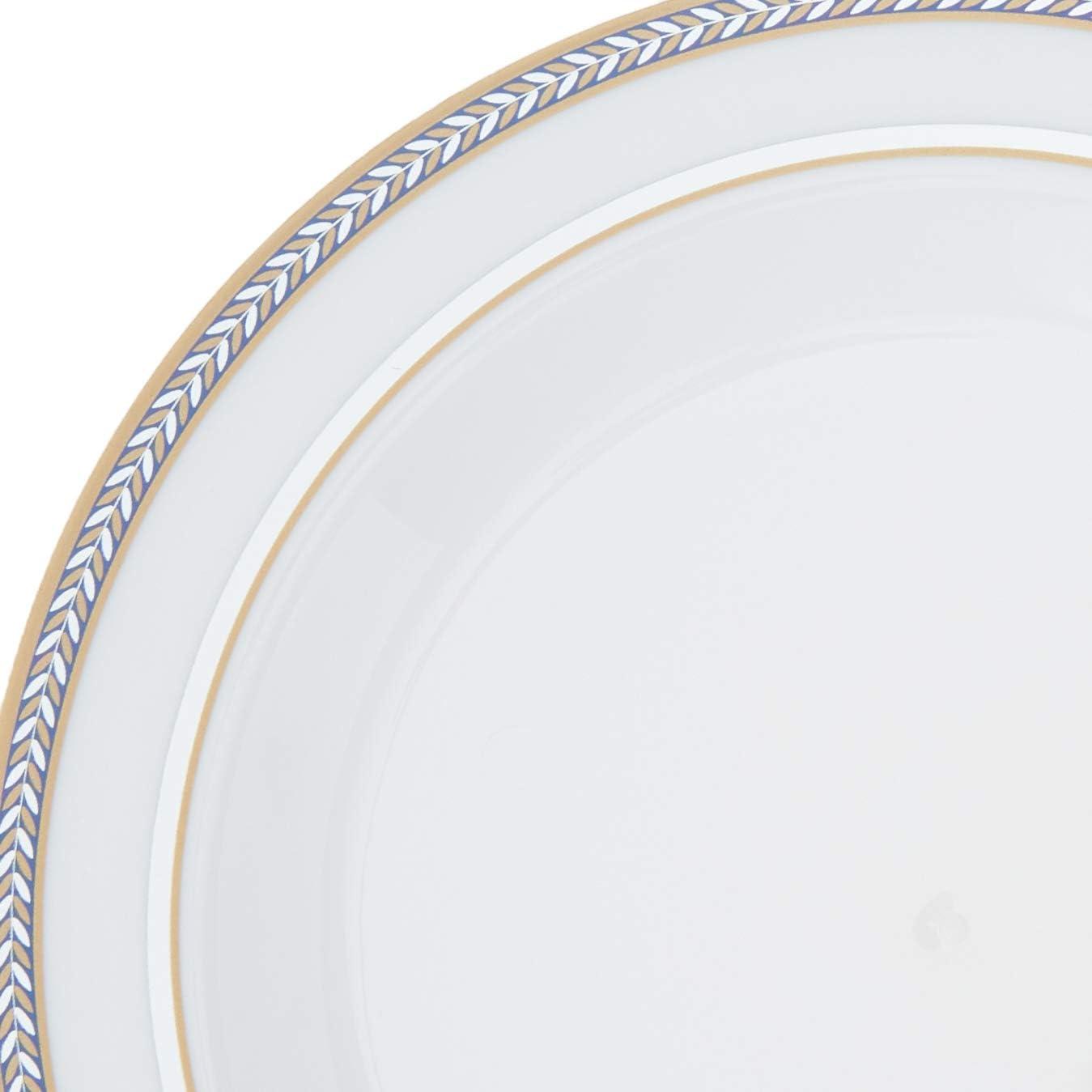Elegante Aspecto de Porcelana Ensalada y 20 Platos de Postre Silver Spoons 1913 VAJILLA DESECHABLE pl/ástico Resistentes Colecci/ón Renaissance-Rojo Incluye Grandes