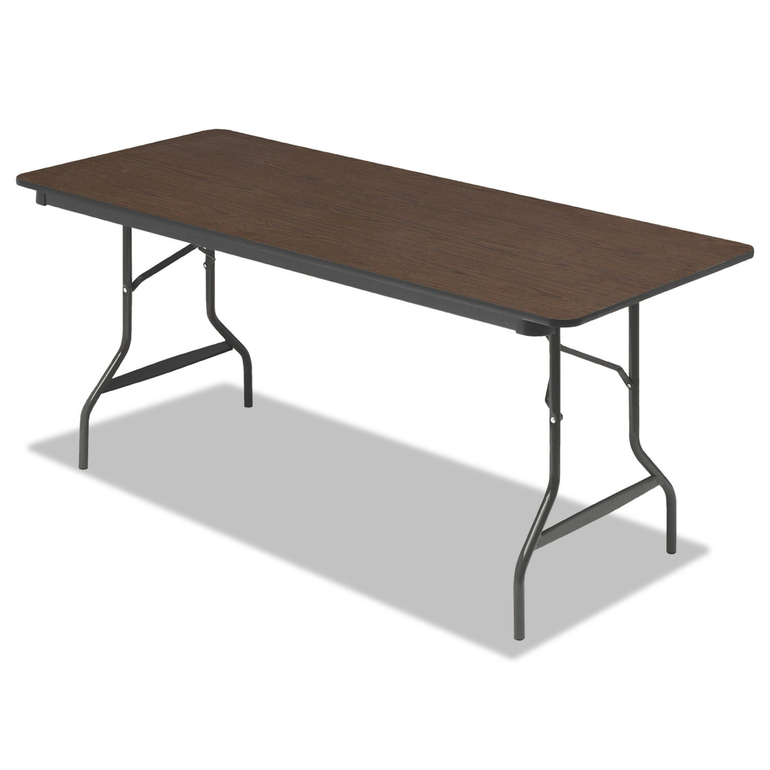 Iceberg 55324 Economy Wood Laminate Folding Table, Rectangular, 72w x 30d x 29h, Walnut