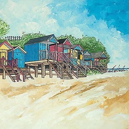 El Arte Grupo Stuart Roy (Verano II) de casetas de Playa – Lienzo Decorativo