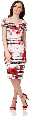 Roman Originals Womens Red Cold Shoulder Poppy Dress Sizes 10-20