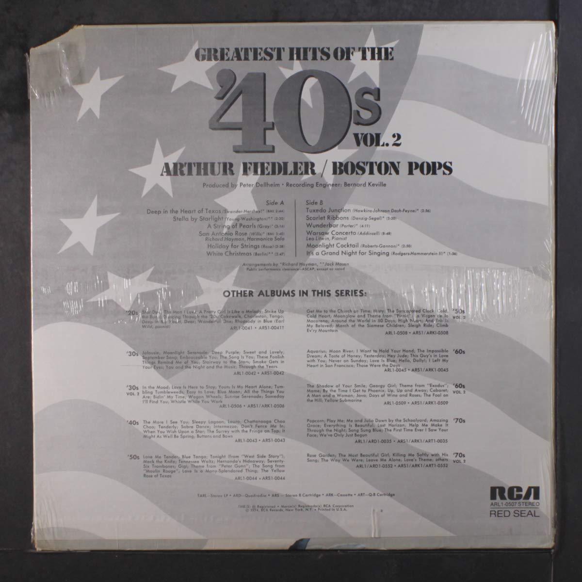 ARTHUR FIEDLER & BOSTON POPS - greatest hits of the '40's LP