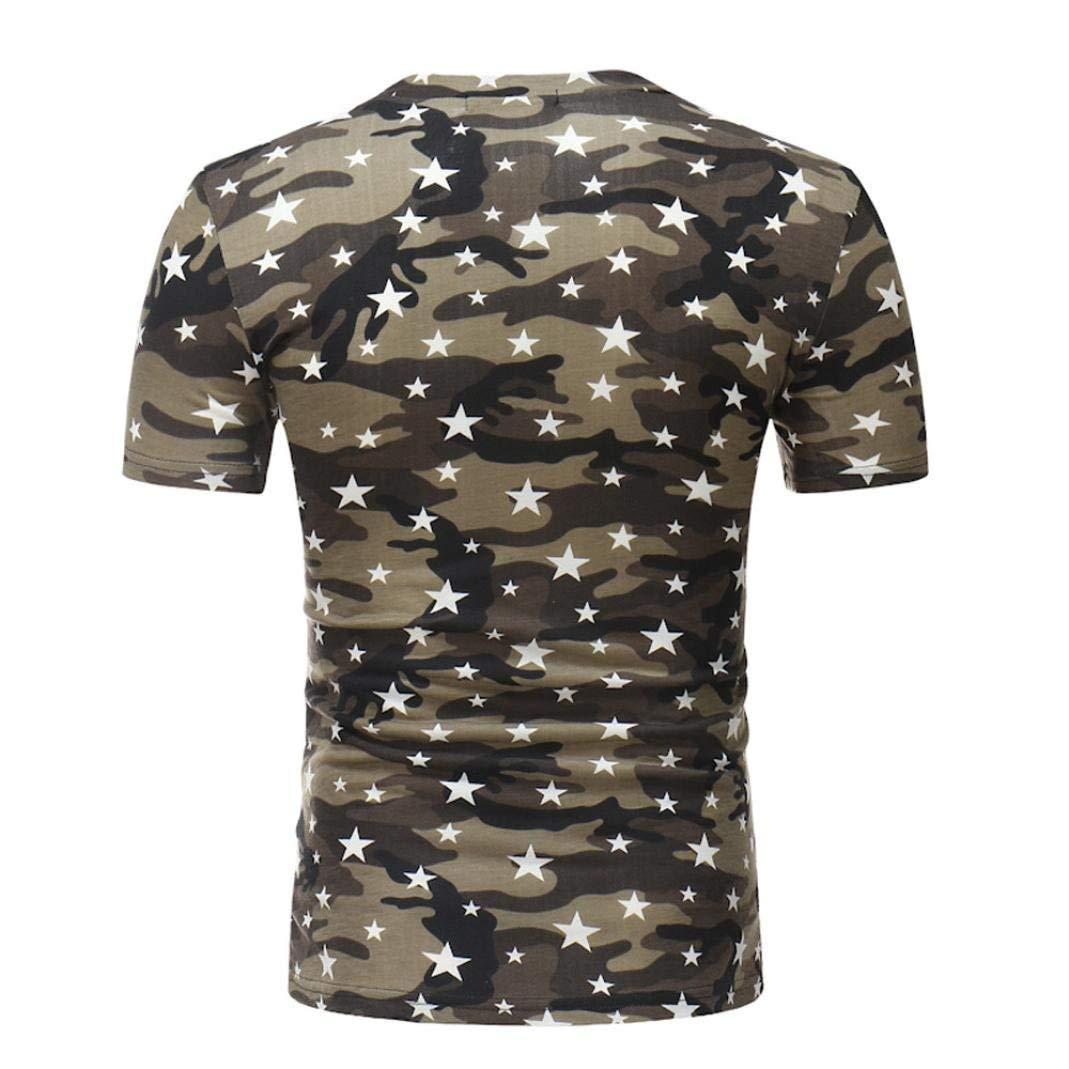 Color : Schwarz, Size : M Men Casual Mens Print Plus Size Camouflage Star Shirt Short Sleeve Blouse Tops Mens Slim Fit Diamond Grid Checked Shirt Casual Business Party Shirt for Men