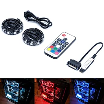 Amazon Magic Rgb Led Strip Lights For Pc Puter Case. Magic Rgb Led Strip Lights For Pc Puter Case 2pcs 12inches Kit With. Wiring. Rgb Pc Cable Wire Diagram At Scoala.co