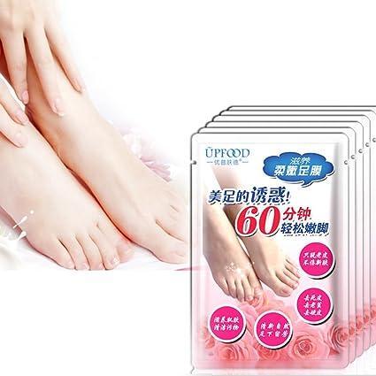 GSEASTBUY 1 par de calcetines exfoliantes para el cuidado de los pies para pedicura, calcetines