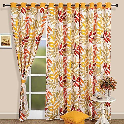 Shalinindia Tropical Palm Cotton Door Curtain
