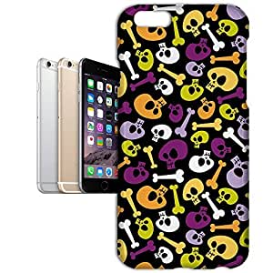 Phone Case For Apple iPhone 6 Plus - Cartoon Halloween Skulls Snap-On Glossy