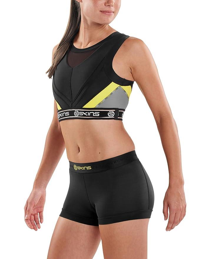 b8c5b38355 Skins Women s DNAmic Compression Vest Crop Top Sports Bra  Amazon.co.uk   Sports   Outdoors