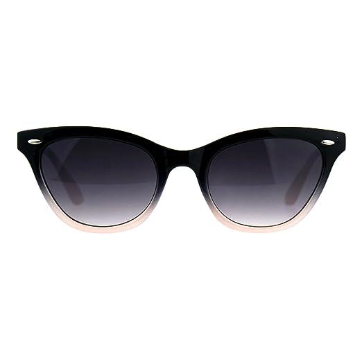 f79db44dca07 Womens Oval Cateye Fashion Sunglasses Black & Blush 2 Tone Shades UV 400