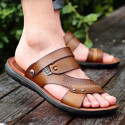 Sandali da da Sandali da Sandali uomo Sandali Sandali Pantofole Uomo uomo Uomo e estivi Khaki Parole spiaggia AIHUWAI Casual ciabatte xSnp6T8wqn