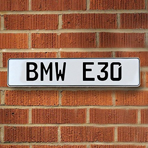 Vintage parts USA VPAY233F BMW E30 White Stamped Street Sign Mancave Wall Art