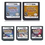 5Pcs Pokemon Heart Gold+Soul Silver+Platinum