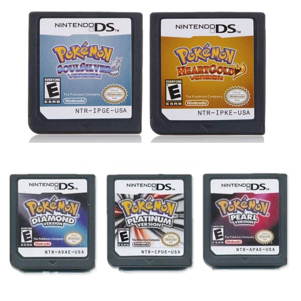 5Pcs Pokemon Heart Gold+Soul Silver+Platinum + Pearl + Diamond Version Game Card for NDS 3DS DSI DS by Thousand layer (Image #2)