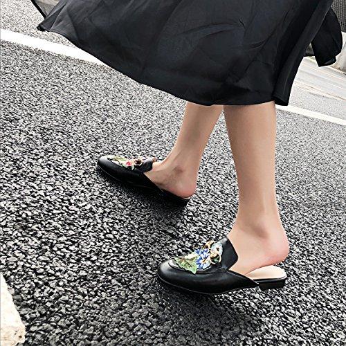 JYshoes Mules Mules Noir Noir JYshoes Femme JYshoes Noir Femme Femme Mules 6xXWqFp