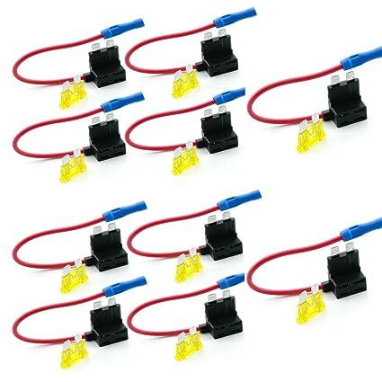 amazon com qiorange car circuit fuse tap piggy back standard blade rh amazon com